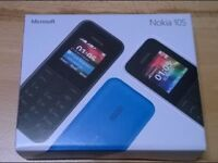 Nokia 105 new with box and changer.black unloclked to any network
