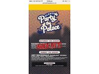 2 Adult party at the palace tickets