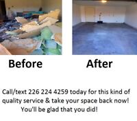 Major Tom's Recycling & Junk Removal Call/Text 226-224-4259 !