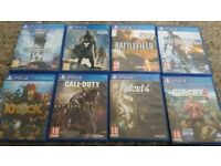 Ps4 games - £10 each or 2 for £15 - fallout, farcry 4, battlefield, destiny, knack, star wars + more