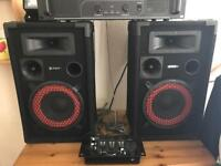 DJ Speakers & Microphone DESCRIPTION