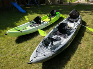 Two 2017 Sit On Top Tandem Kayaks