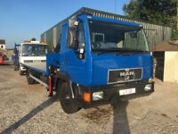 Man lorry allso layland lorry for sale with hiab