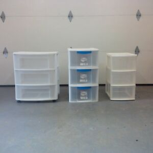 3-set of file drawers