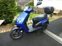 Peugeot 49cc Moped 1st reg. 31/7/13