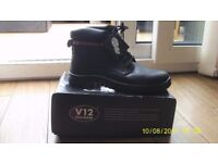 V12 Bison, Waxy Derby Safety Boot, Size 12 UK 47 EU, Black New