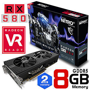 RADEON RX 580 Nitro+ 8G GDDR5 NEW / Unopened (10 Available)