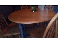 Solid Oak Oval Dining Table