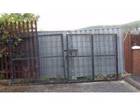 Set of 2 x 7x6 foot anti climb gates