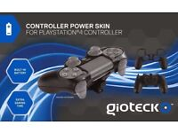 Gioteck Black PS4 Controller Power Skin w Battery