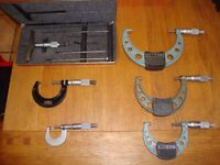Mitutoyo and Starrett Micrometer's for Lathe or Engineer use.