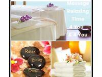 Thai massage therapist full body relaxing oil