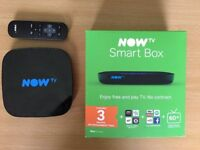 NOW TV Smart Box-Freeview Box-App Store-As new condition.