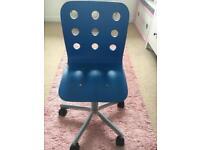 Blue computer chair