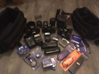 3 Canon A1 Cameras & Equipment For Sale!