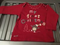 Kids my first Christmas top Age 0-3 mths