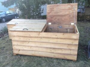Wooden Deck Box/Garbage Box