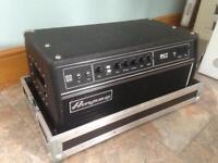 Ampeg SVT CL with flightcase bass guitar amp head