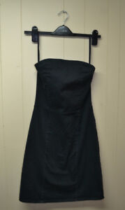 Strapless Black cotton dress, size 2