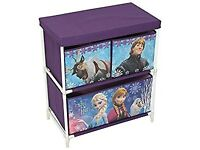 2nd Disney Frozen Kids Toy Storage Unit, Fabric, Purple, 60 x 53 x 30 cm