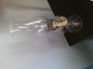 Classic simple clear glass oil lamp