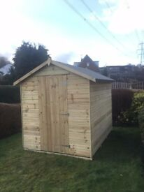 Garden Sheds Gumtree 8ft x 6ft fully t&g apex garden shed factory seconds. | in low