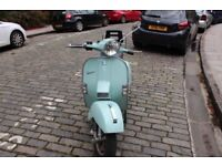 Beautiful Blue Vespa PX125 with Low Mileage