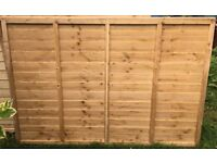 Fence panel - 6' wide by 4' high
