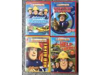 4 Fireman Sam DVDs ~ Choppy Waters ~ Greatest Rescues ~ Red Alert ~ Help Is Here