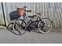 "Pashley Princess Classic Black 20"" (medium), brookes saddle, basket, STUNNER!"