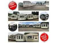 Statics Caravan end of season sale ~ free u.k delivery ~ prices from only £2,000