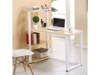 Office Home Study Computer PC Laptop Corner Table Desk Worksation Bookcase Shelf
