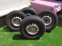 "Mercedes Vito 16"" Steel Wheels & Tyres"