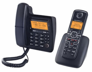 Motorola DECT 6.0 Enhanced Corded Base Phone with Cordless Hands