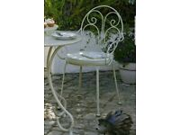 Heart of House Jasmin Bistro chairs x 2 No cushions (Brand new)