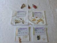 Pendants real gemstones set in silver (5) & necklaces (2)