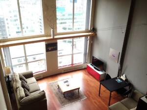 UNIQUE LOFT - furnished, bright & convenient in heart downtown