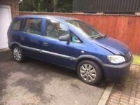 Vauxhall Zafira 1.6 petrol - spares or repair