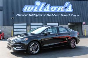 2017 Ford Fusion SE AWD! LEATHER! NAVIGATION! SUNROOF! $75/WK, 5