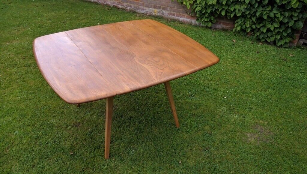 Ercol Blonde Square Drop Leaf Table Model 492 Rare Very Collectable Item Seldom Available