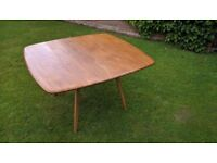 Ercol Blonde Square Drop Leaf Table model 492. Rare very collectable item, seldom available.