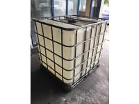 Water Oil container 1000l industrial