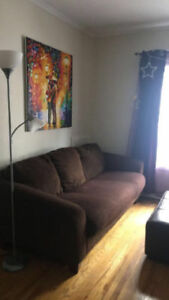 Brown Couch & Loveseat
