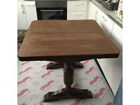 Solid wood extendable (draw leaf) table.