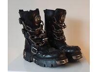 New Rock Style M.727MT-C1 Black Boots UK Size 6.5
