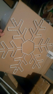 Brand new light up snowflakes large and small
