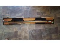 Black widow pool cue and case