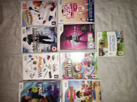 Nintendo Wii Console, full cables and accessories, all 9 games included as pictured. Great condition