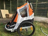 GIANT PEAPOD CHILD CARRIER/ BIKE TRAILER - great condition, high quality brand & easy to use.