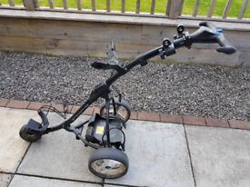MotoCaddy Electric Trolley, Battery & Bag, all in good condition and in working order